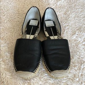 Comfy leather slip-ons with side cutouts!